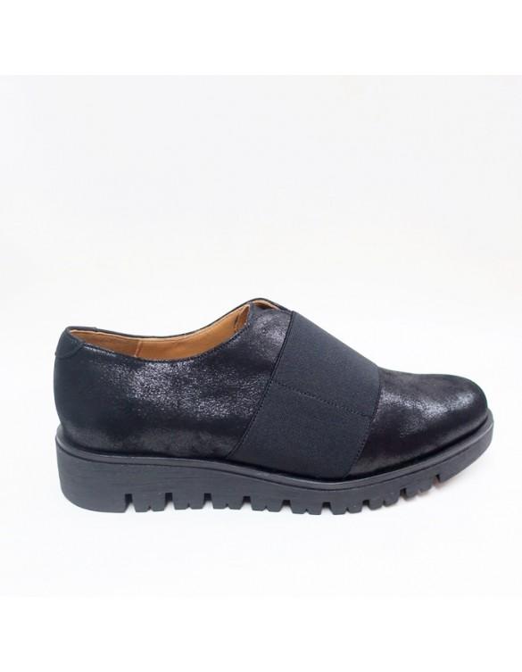 Zapato de cuña con elástico