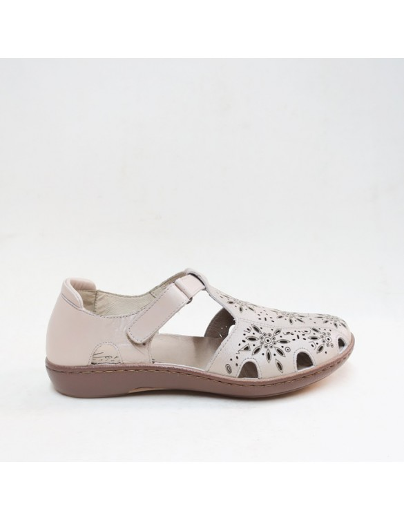 Sandalia semi cerrada confort