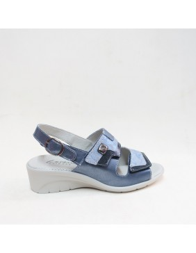 Sandalia confort azul