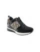 Sneaker negro con print de cebra